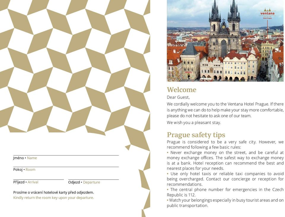 Prague safety tips Prague is considered to be a very safe city. However, we recommend following a few basic rules: Never exchange money on the street, and be careful at money exchange offices.