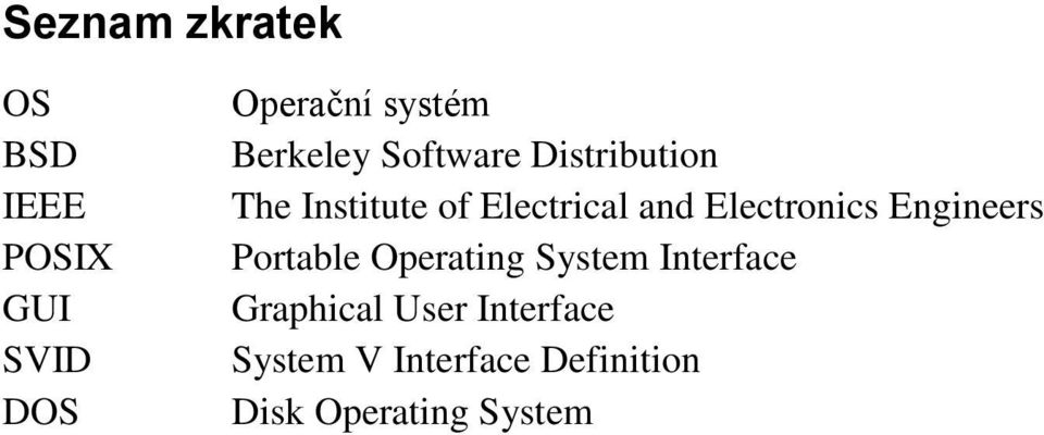 Electronics Engineers Portable Operating System Interface