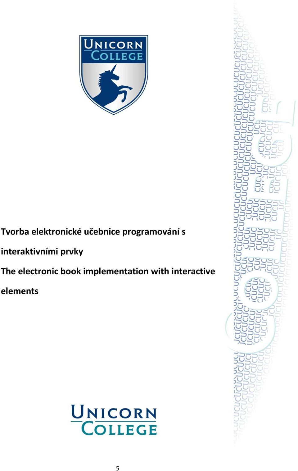 prvky The electronic book