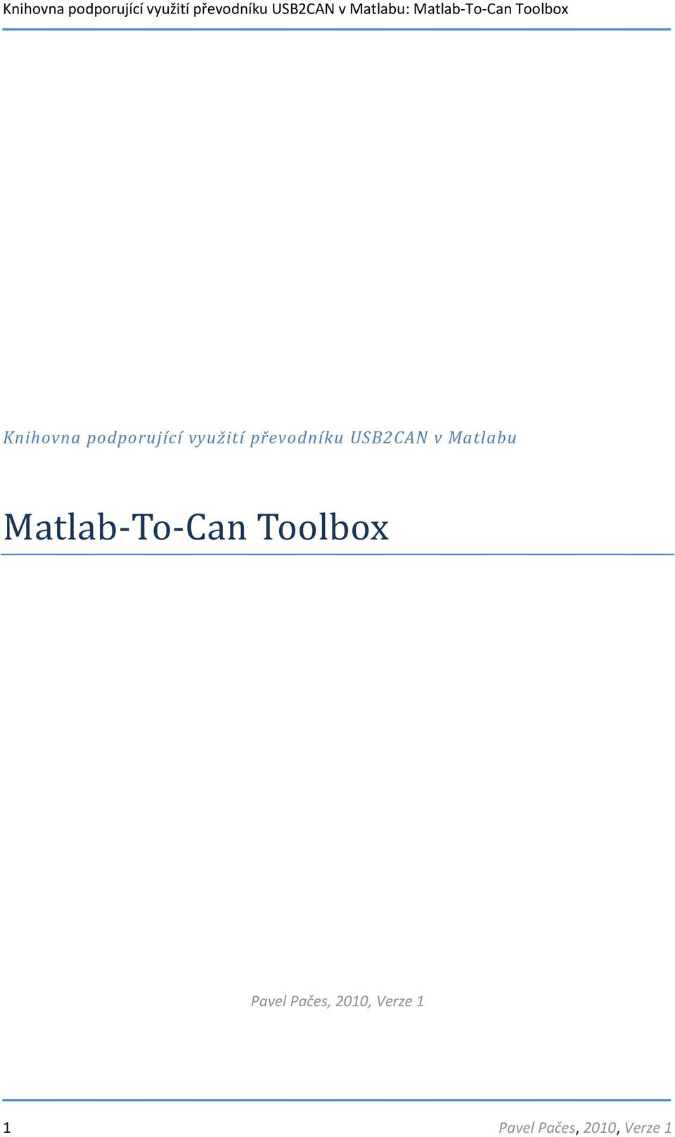 Matlab-To-Can Toolbox Pavel