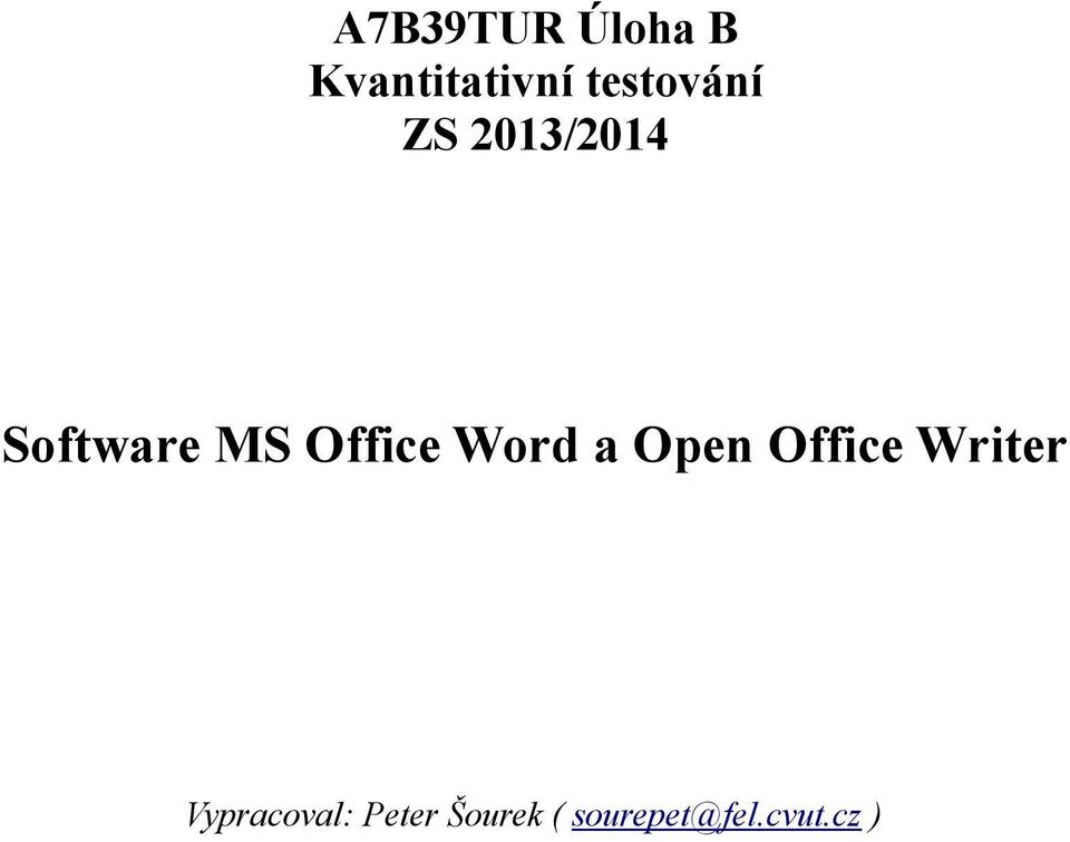 Office Word a Open Office Writer