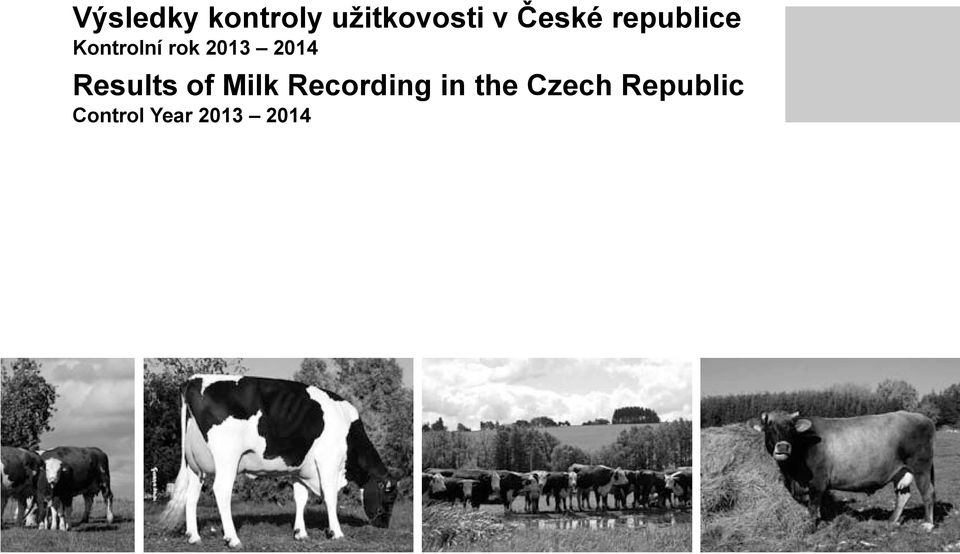 2014 Results of Milk Recording in