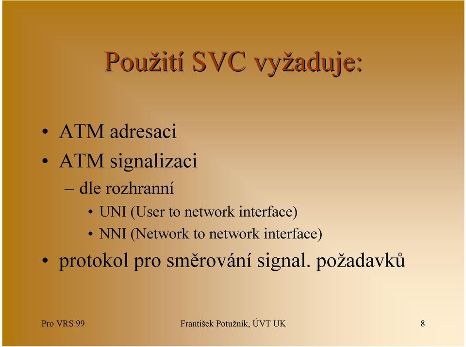 (Network to network interface) protokol pro