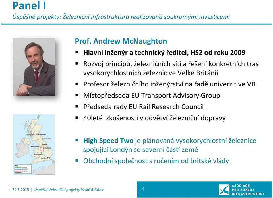 Velké Británii Profesor železničního inženýrství na řadě univerzit ve VB Místopředseda EU Transport Advisory Group Předseda rady EU Rail Research Council 40leté