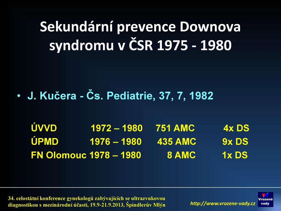 Pediatrie, 37, 7, 1982 ÚVVD 1972 1980 751 AMC