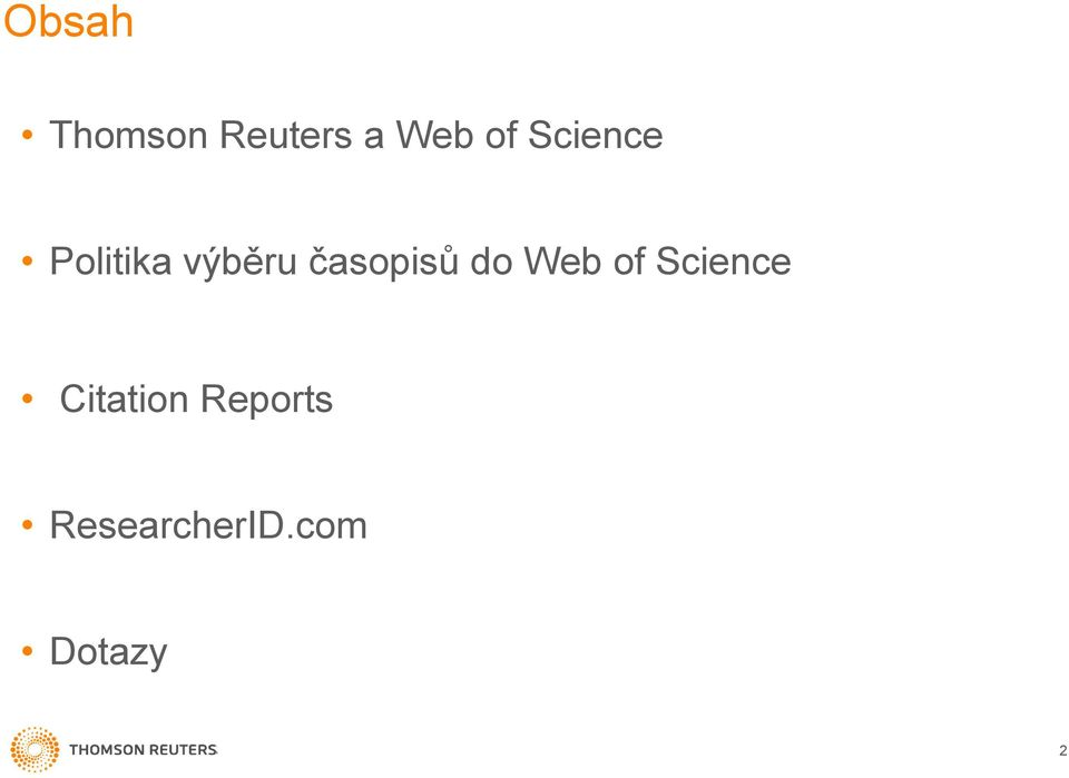 časopisů do Web of Science