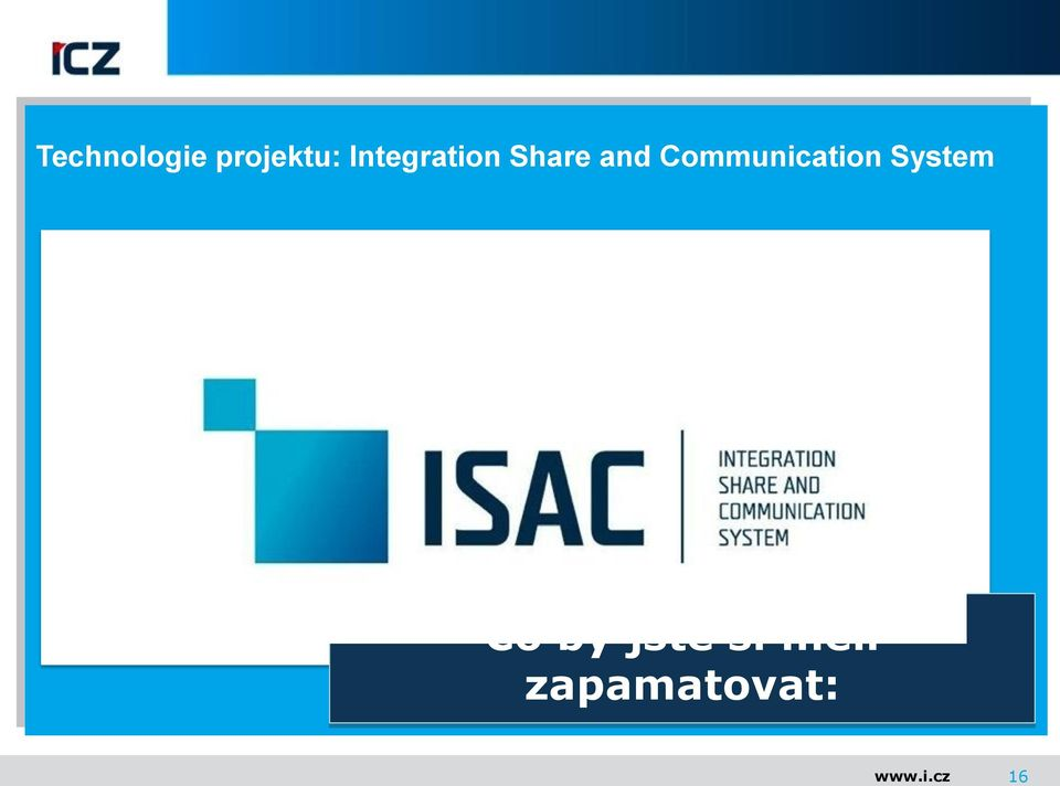 Communication System ISAAC