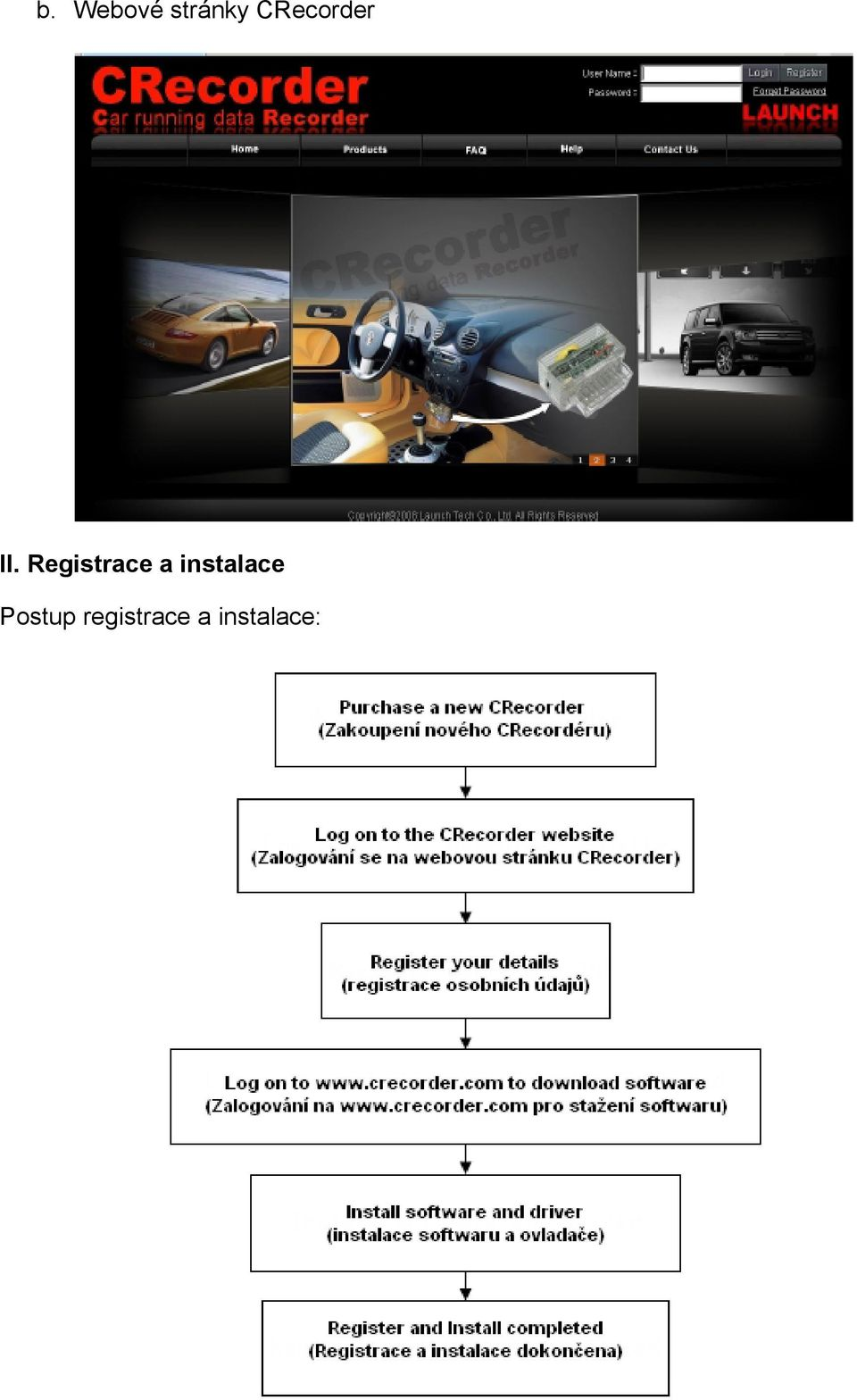 Registrace a
