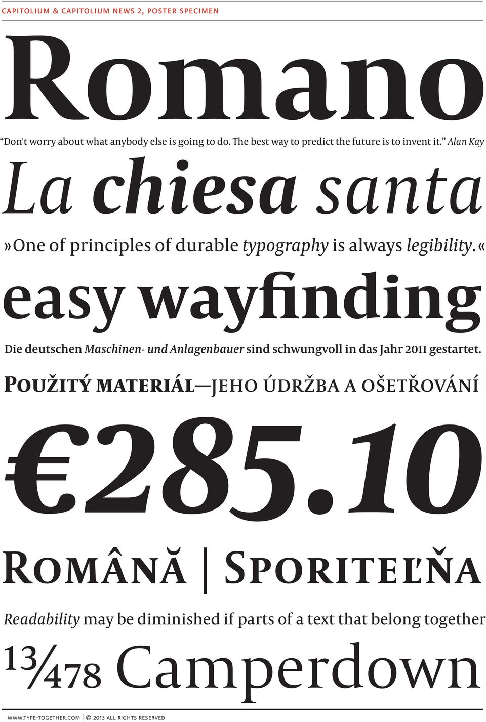 Alan Kay La chiesa santa» One of principles of durable typography is always legibility.