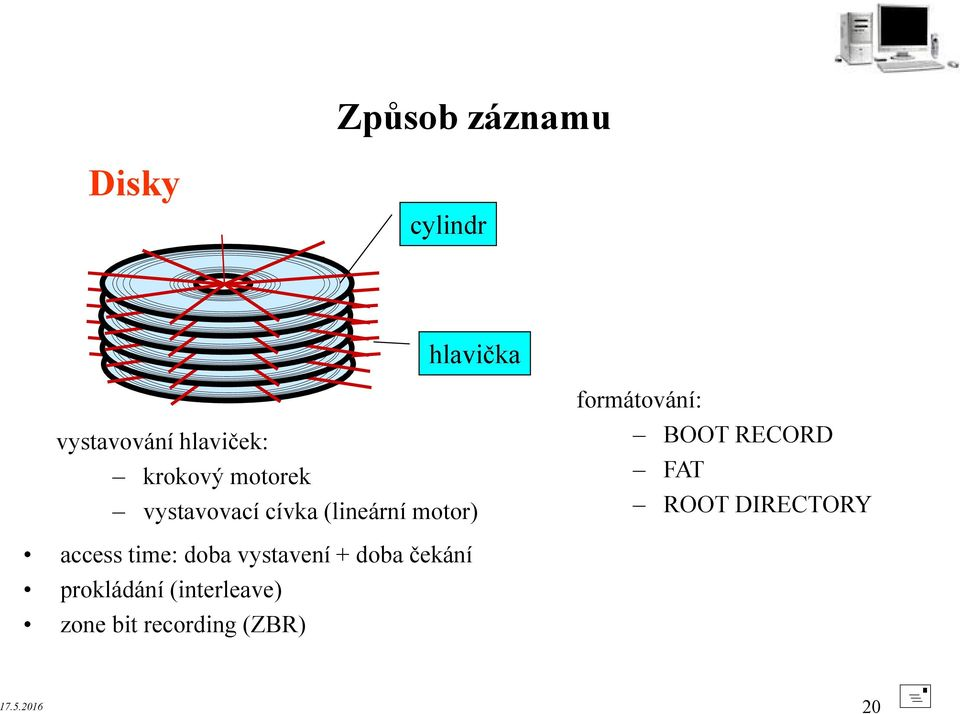 BOOT RECORD FAT ROOT DIRECTORY access time: doba vystavení +