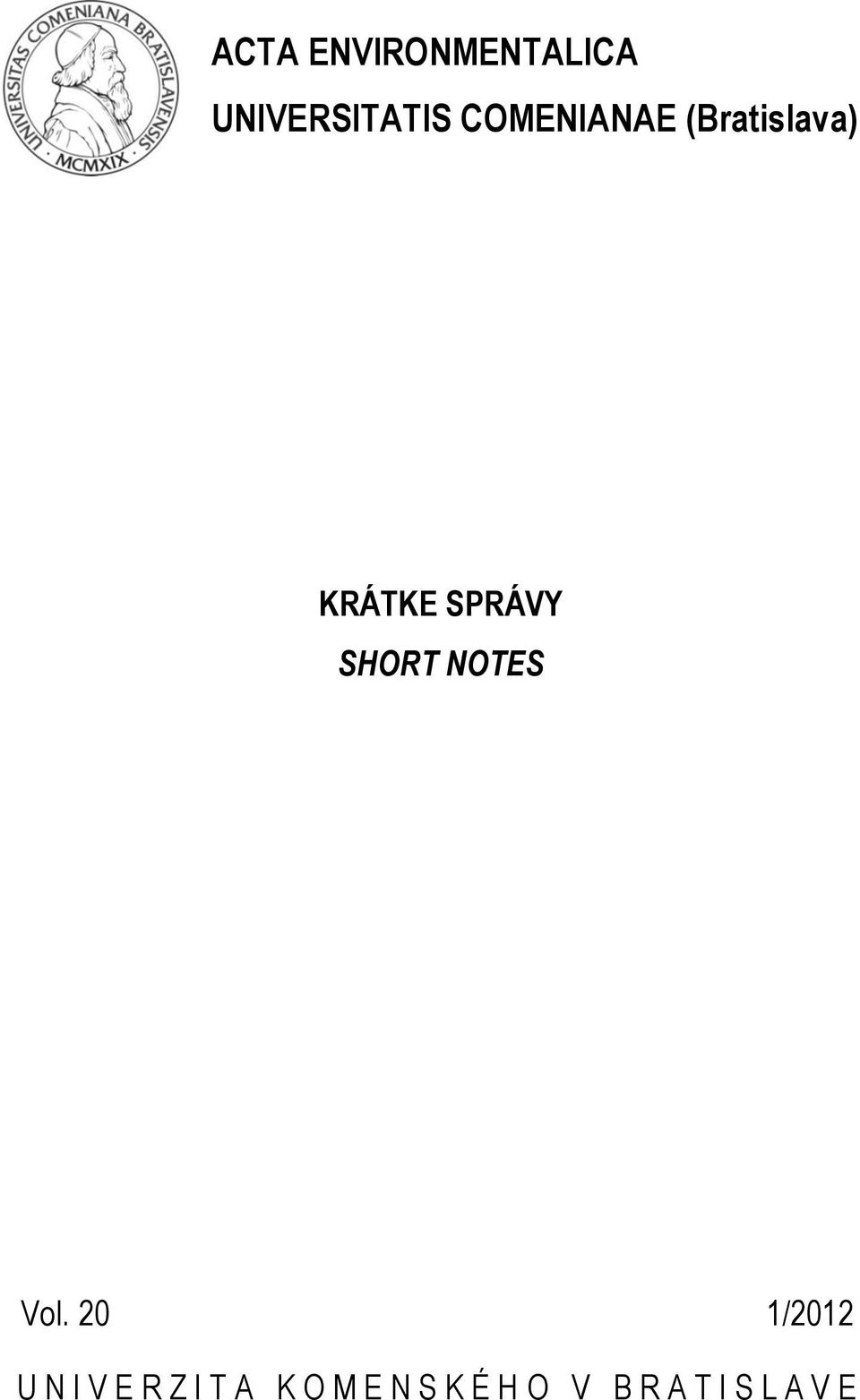 SHORT NOTES Vol.