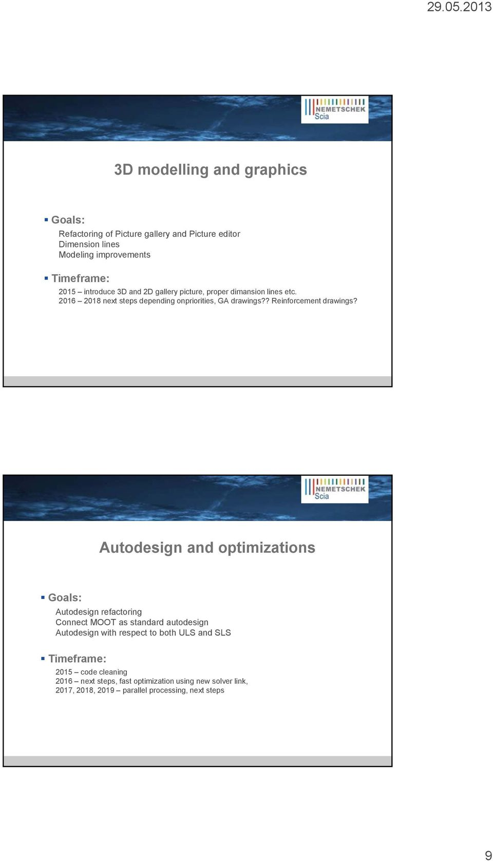 Autodesign and optimizations Goals: Autodesign refactoring Connect MOOT as standard autodesign Autodesign with respect to both ULS and