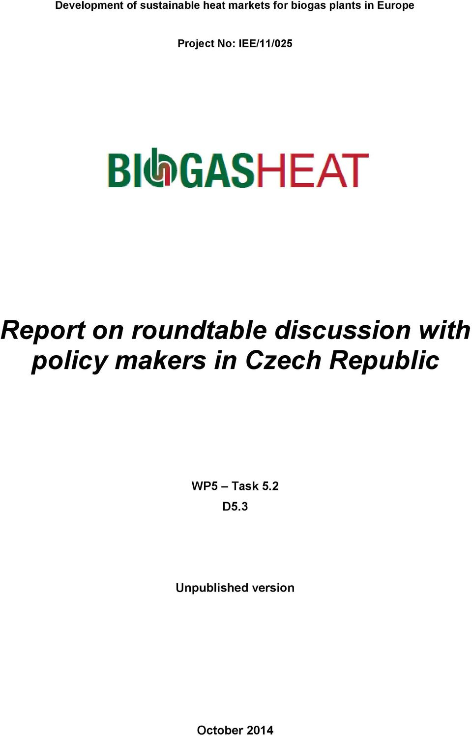 roundtable discussion with policy makers in Czech
