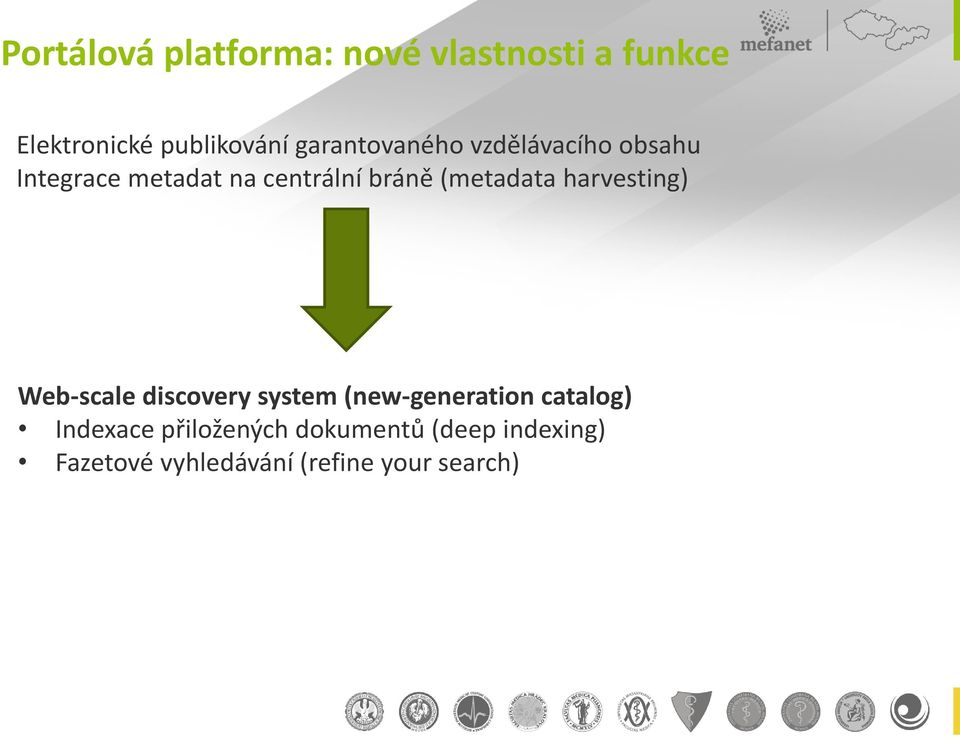 (metadata harvesting) Web-scale discovery system (new-generation catalog)