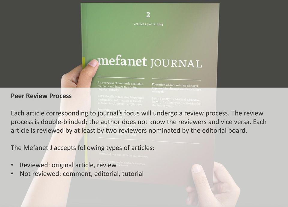 Each article is reviewed by at least by two reviewers nominated by the editorial board.