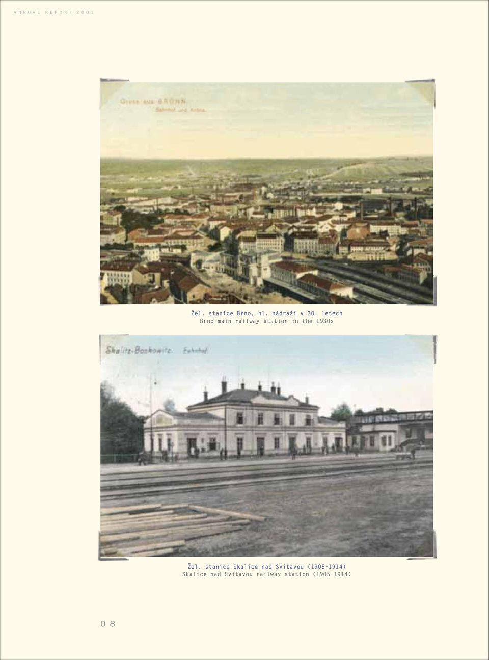 letech Brno main railway station in the 1930s el.