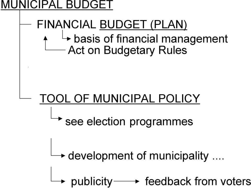 OF MUNICIPAL POLICY see election programmes