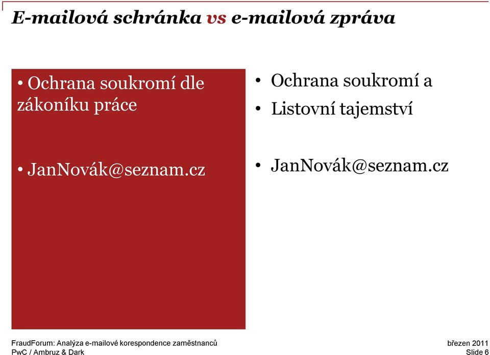 To ensure that you have the JanNovák@seznam.