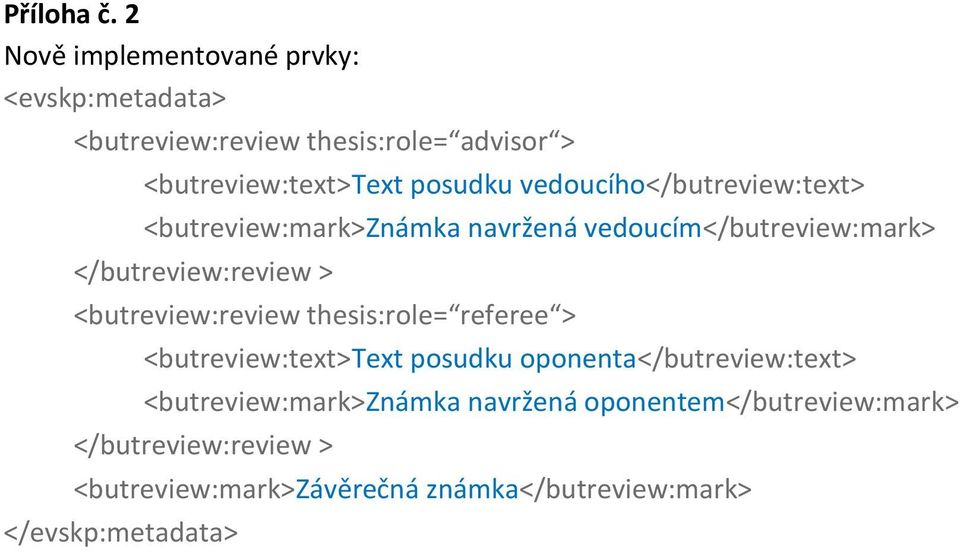 vedoucího</butreview:text> <butreview:mark>známka navržená vedoucím</butreview:mark> </butreview:review >