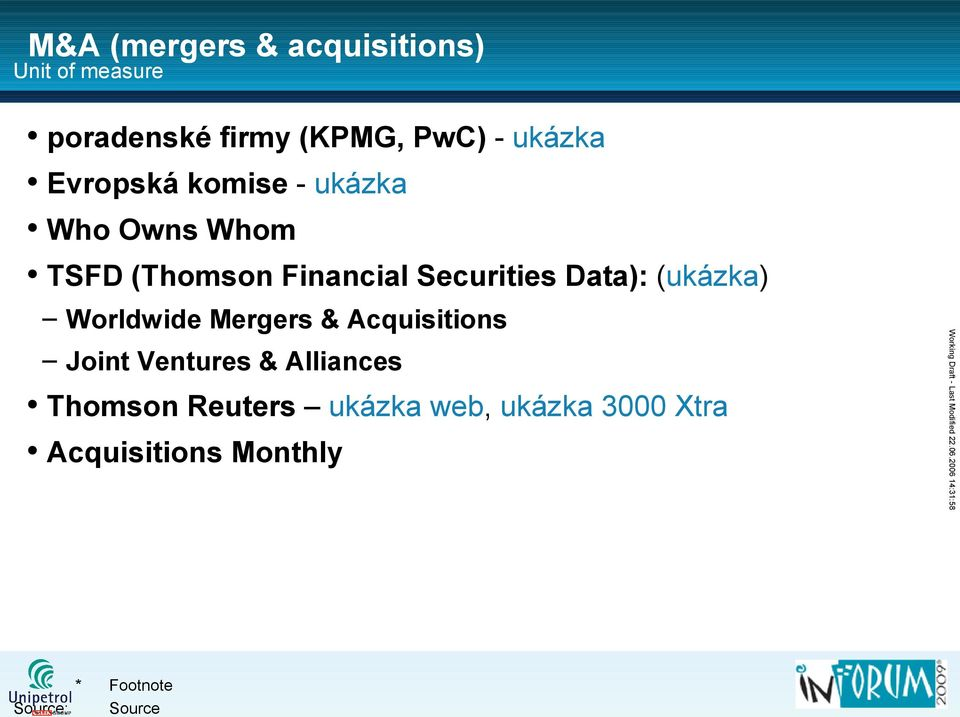 Securities Data): (ukázka) Joint Ventures & Alliances Thomson Reuters