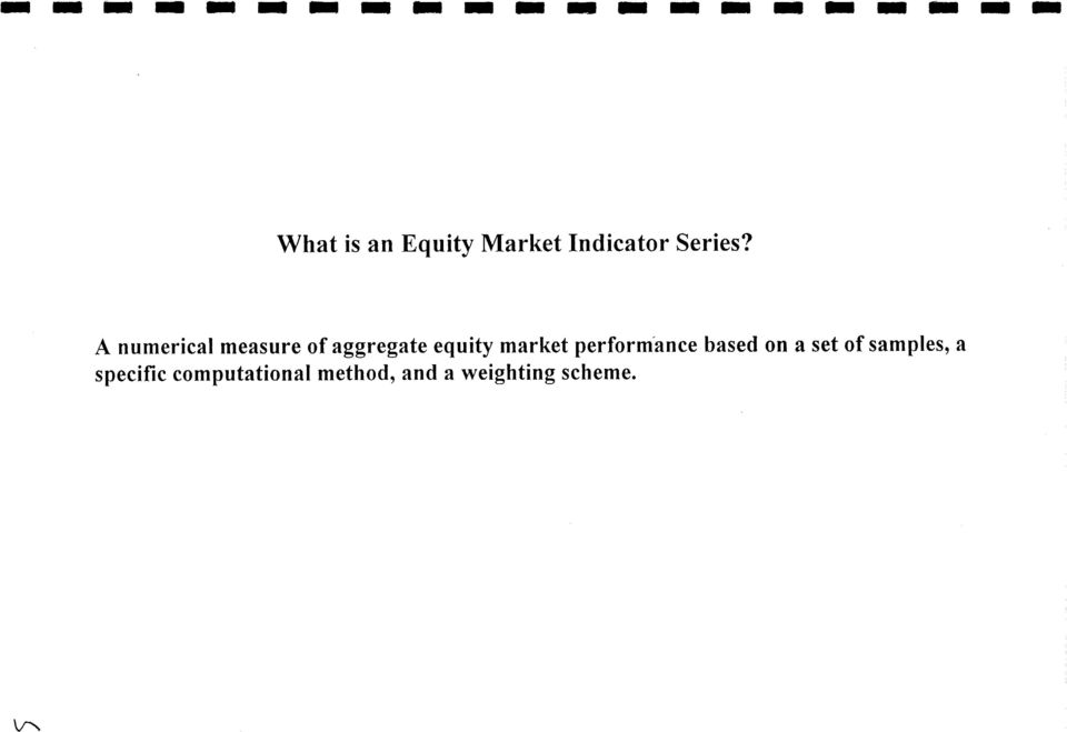 A numerical measure of aggregate equity market
