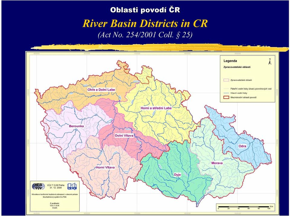 Districts in CR (Act