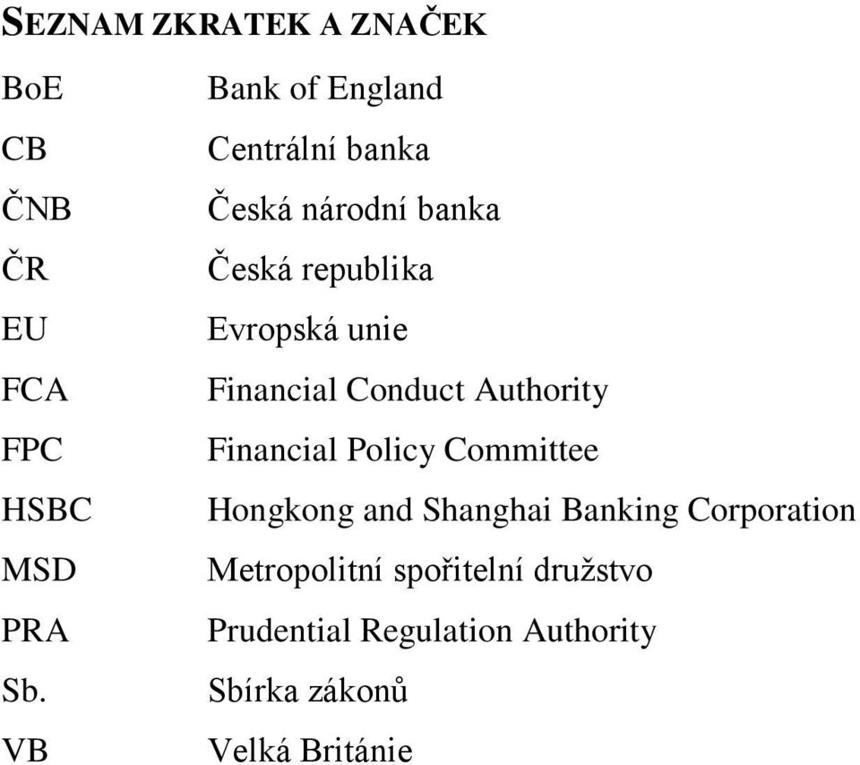 Financial Conduct Authority Financial Policy Committee Hongkong and Shanghai Banking