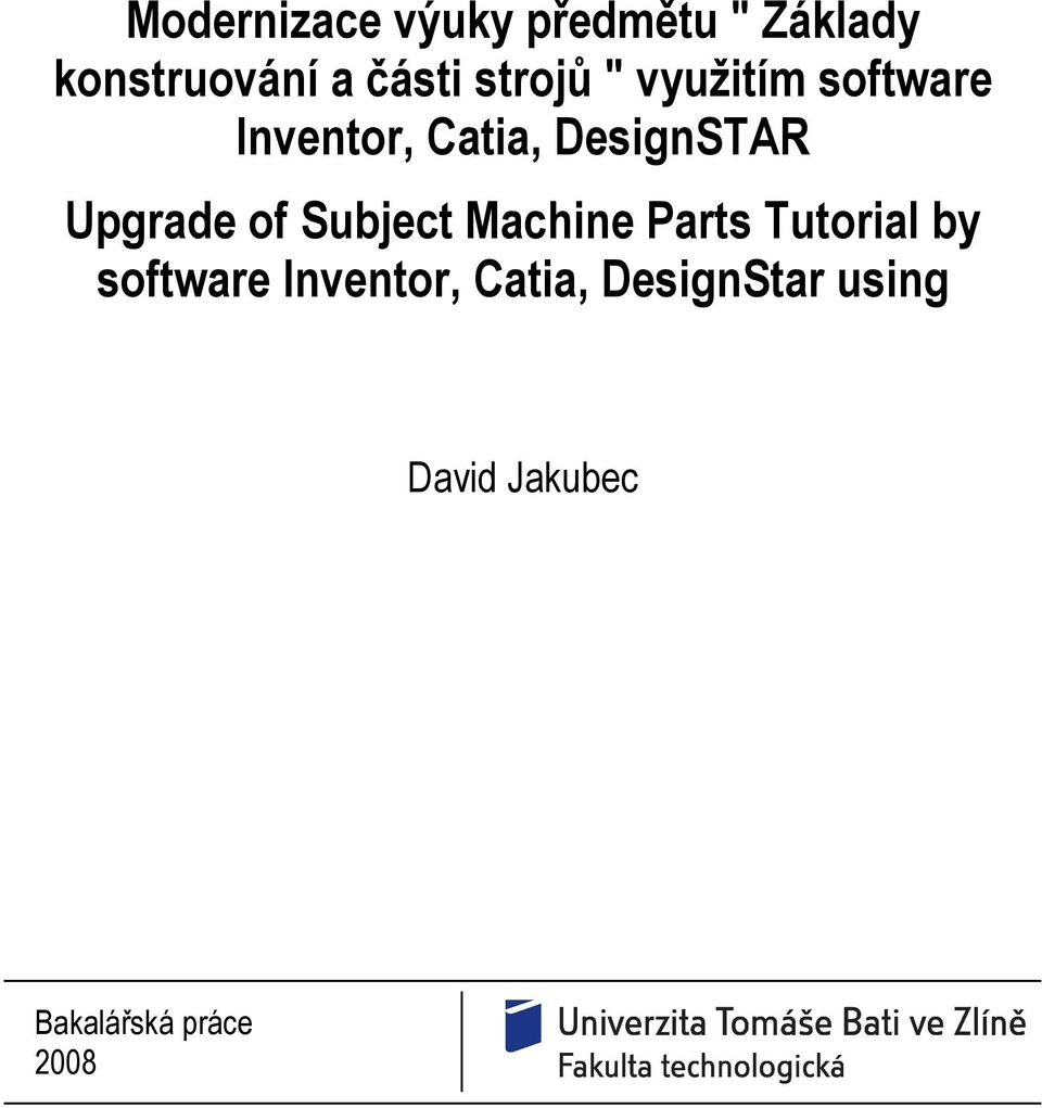 Upgrade of Subject Machine Parts Tutorial by software