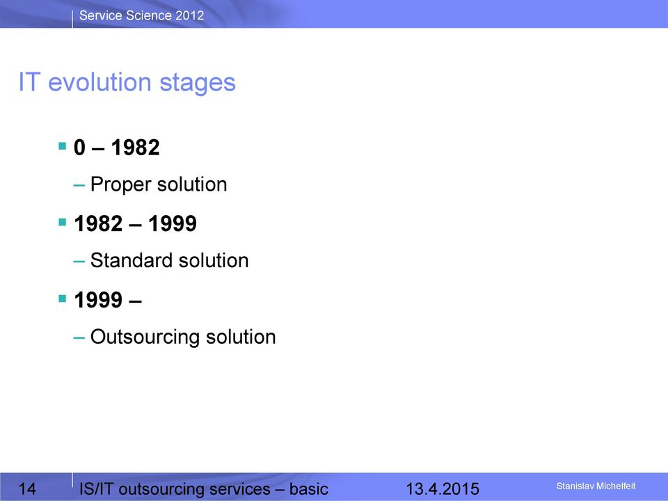 solution 1999 Outsourcing solution