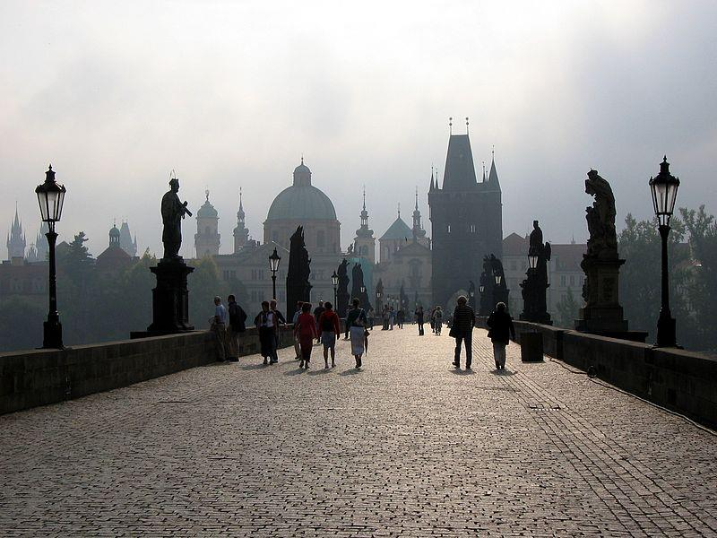The oldest bridge in Prague Connects the Lesser Town with the Old Town Build by Charles IV, where the original Judita s bridge was torn down by a flood Decorated by 30 statues saints and patron