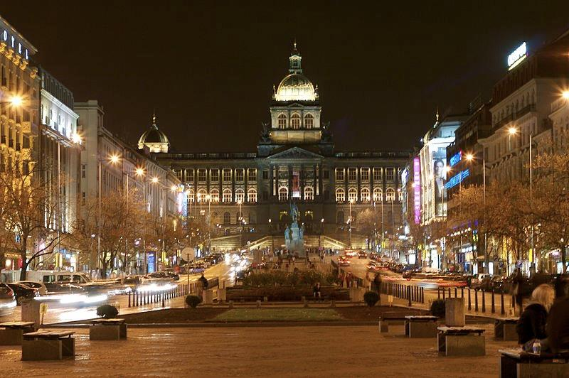 On the top of Wenceslas square The biggest and the oldest Czech museum with large scientific and historical collections Image4: Wenceslas square is a commercial centre of Prague A lot of shops, small