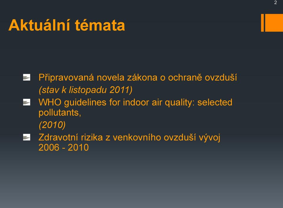 guidelines for indoor air quality: selected