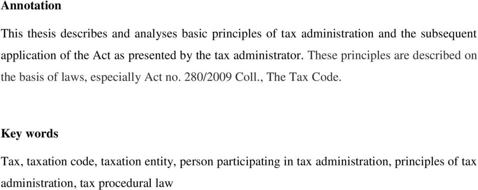 thesis on tax administration