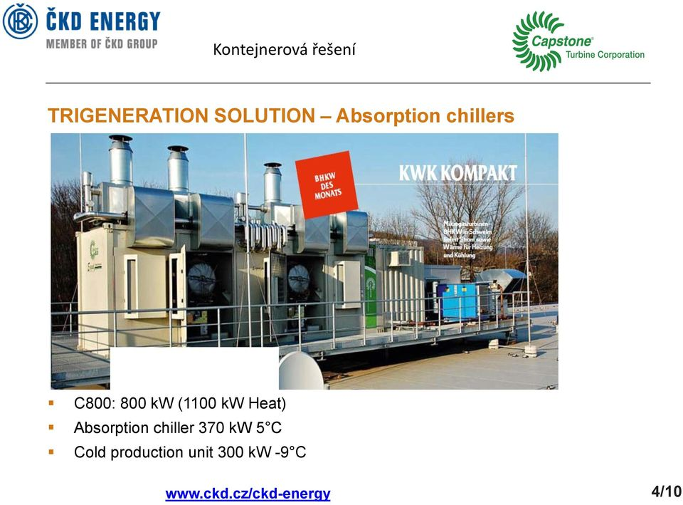 Heat) Absorption chiller 370 kw 5 C Cold