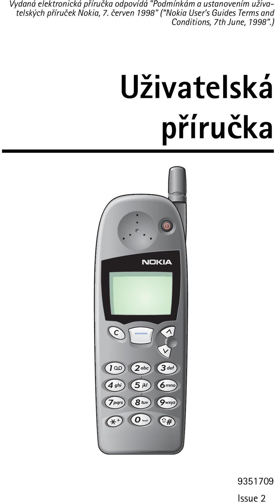 "èerven 1998"" ( Nokia User s Guides Terms and"