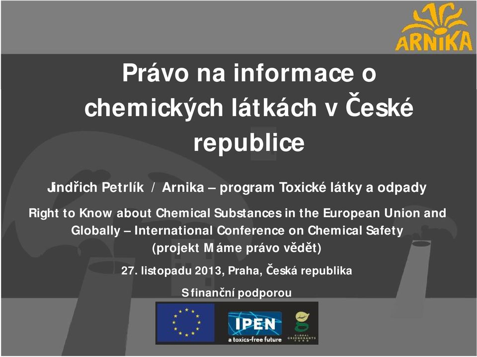the European Union and Globally International Conference on Chemical Safety