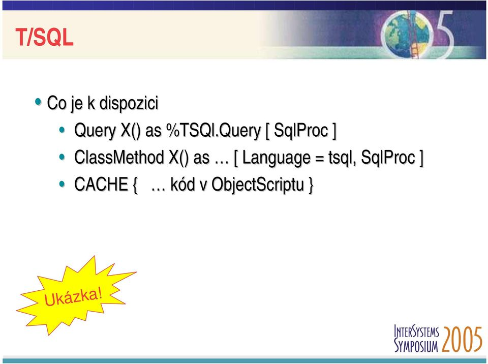 Query [ SqlProc ] ClassMethod X() as