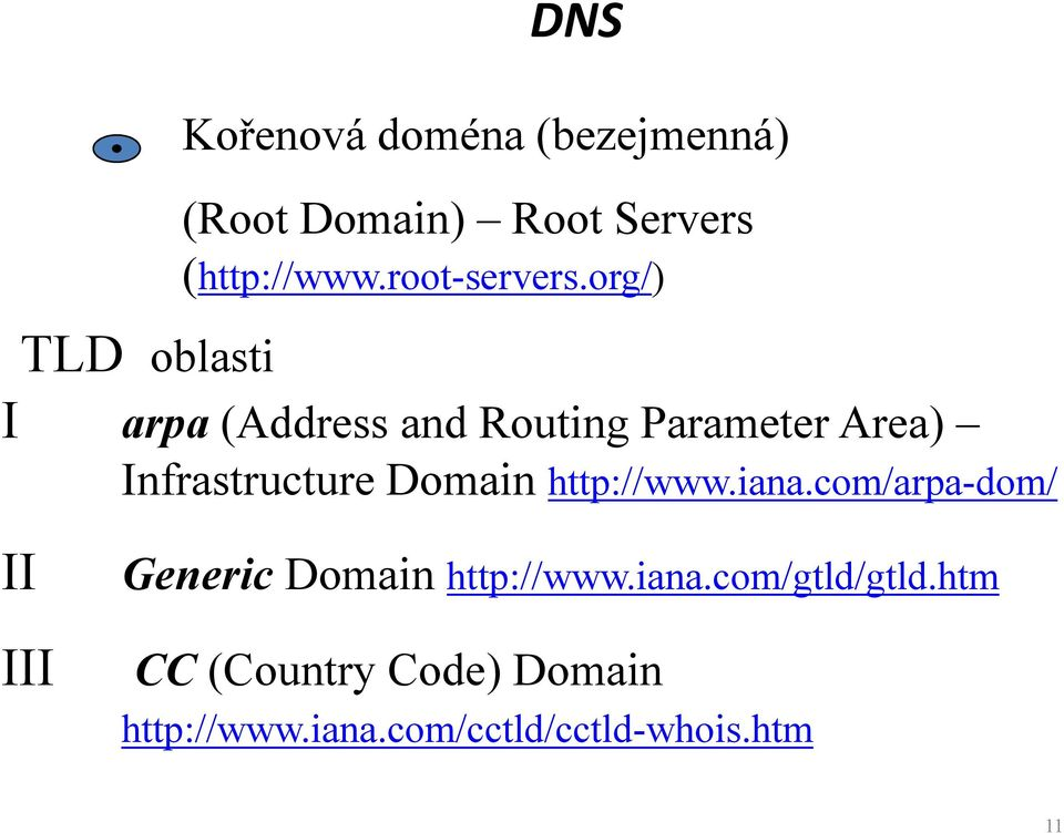 org/) TLD oblasti I arpa (Address and Routing Parameter Area) Infrastructure