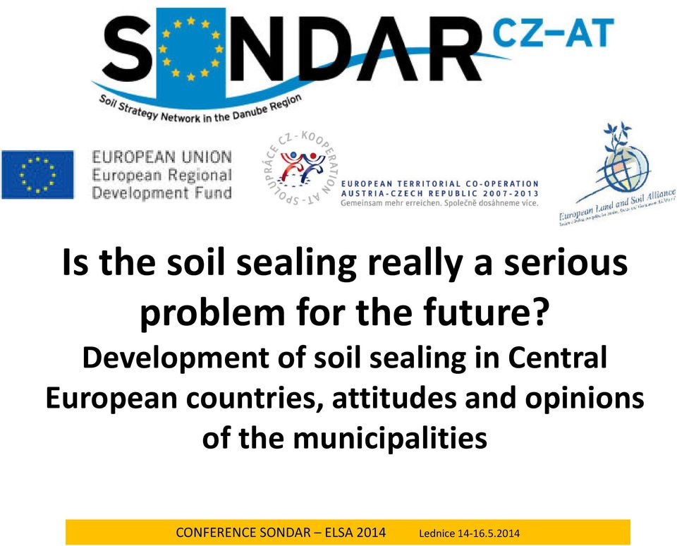Development of soil sealing in Central