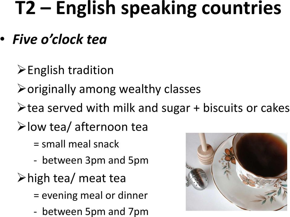 biscuits or cakes low tea/ afternoon tea = small meal snack - between