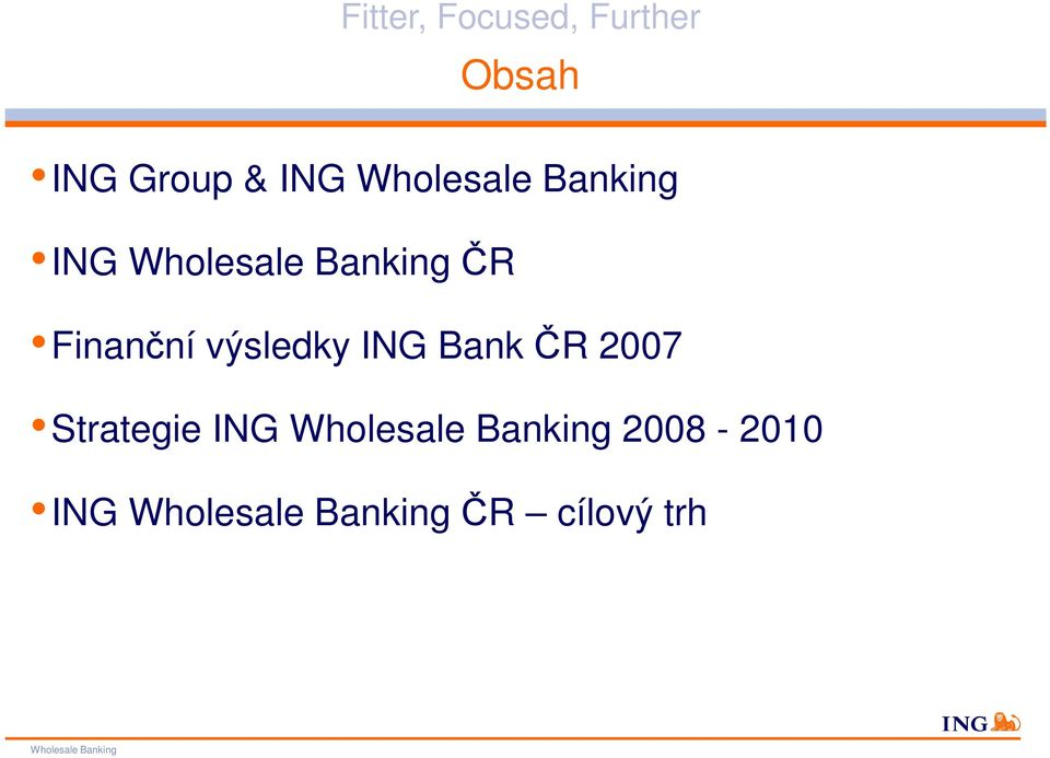 Bank ČR 2007 Strategie ING