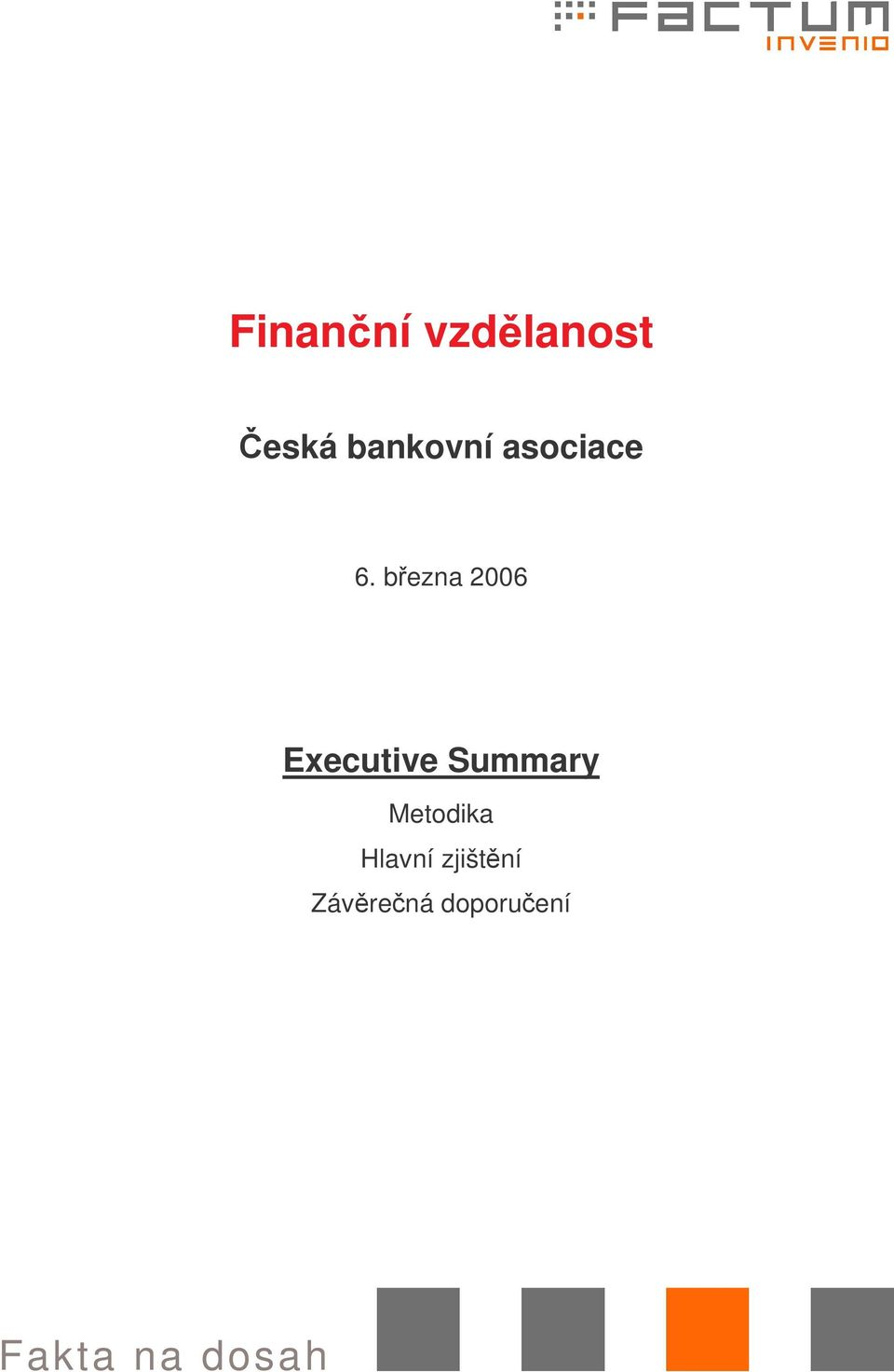 bezna 2006 Executive Summary