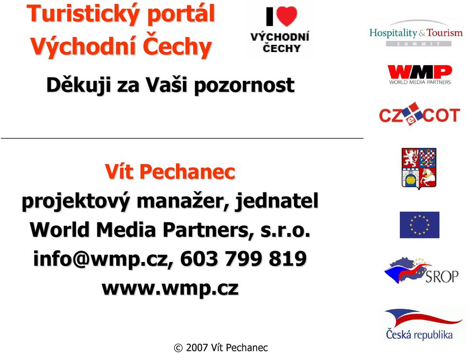 jednatel World Media Partners, s.r.o. info@wmp wmp.