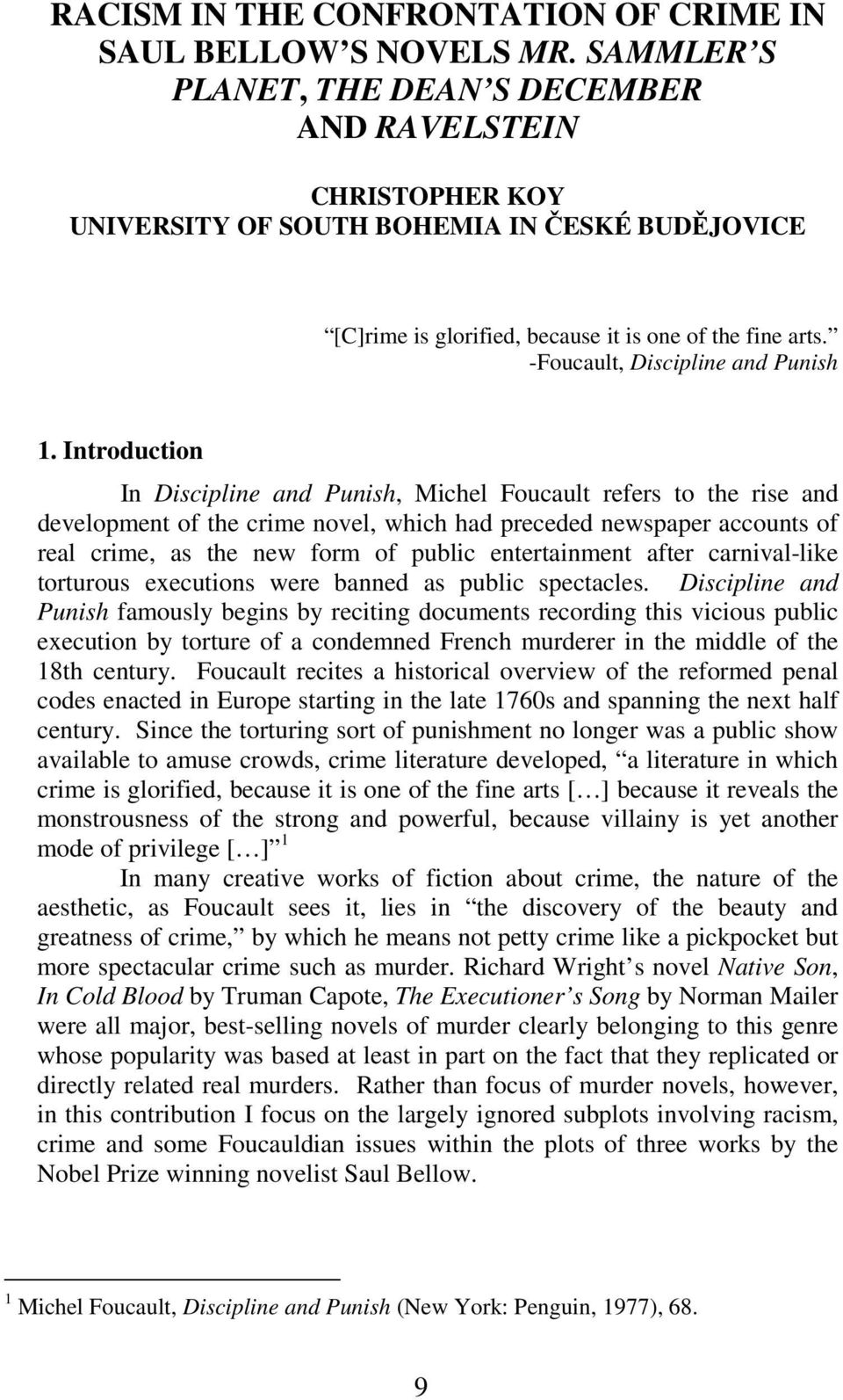 -Foucault, Discipline and Punish 1.