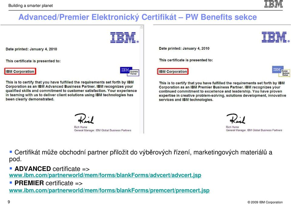 ADVANCED certificate => www.ibm.