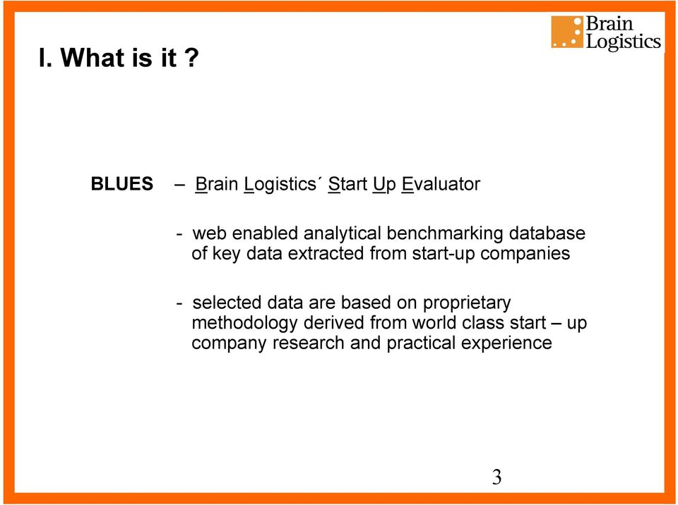 benchmarking database of key data extracted from start-up companies -