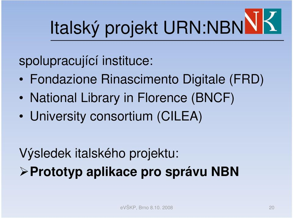Library in Florence (BNCF) University consortium