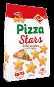Krekry Crackers NOVINKA Pizza Stars 100g Crackers with pizza flavor 100g, 18 ks/kart. EAN: 8594014990782 NOVINKA Sýrovky 90g Crackers with cheese flavor 90g, 18 ks/kart.