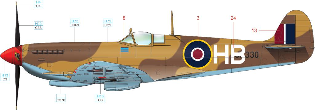 B Mk.VIII, JF330, AVM Harry Broadhurst, 1943