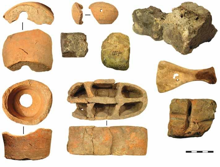 3 5 6 7 8 9 Fig. 0. Various materials from the alchemy workshop (Bilyar excavation LXI): 3 vessel fragments AKУ85/95.